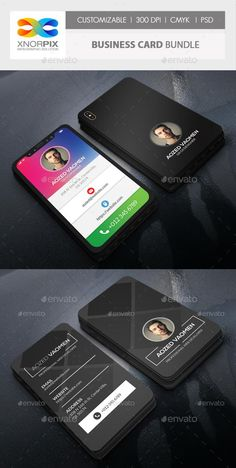 Iphone x mobile business card template psd business card business card bundle graphicriver wajeb Gallery