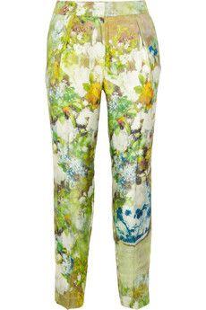 By Malene Birger Nallie floral-print silk-twill straight-leg pants | THE OUTNET