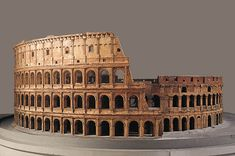 This remarkable cork reproduction of Roma's famous Coliseum Building was made from 1792 onwards by Bavaria's court confectioner Carl May and his son Georg... magnificent detailing !