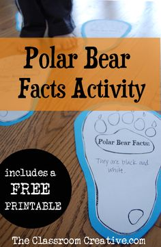Polar Bear and Arctic Animals FREE Printables & Resources - Homeschool Giveaways Polar Bear Paw, Polar Bear Facts, Penguins And Polar Bears, Bear Paws, Animal Activities, Activities For Kids, Winter Activities, Preschool Winter, Reading Activities