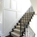 Black and White Hallway - Transitional - entrance/foyer - Greg Natale
