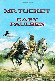Mr. Tucket by Gary Paulsen. Fourteen-year-old Francis Tucket is heading west on the Oregon Trail with his family by wagon train. When he receives a rifle for his birthday, he is thrilled that he is being treated like an adult. But Francis lags behind to practice shooting and is captured by Pawnees. It will take wild horses, hostile tribes, and a mysterious one-armed mountain man named Mr. Grimes to help Francis become the man who will be called Mr. Tucket. (7.March .2018)