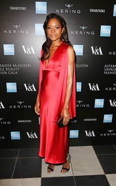 Naomi Harris wearing Alexander McQueen at the Opening Night Gala of Alexander McQueen, Savage Beauty