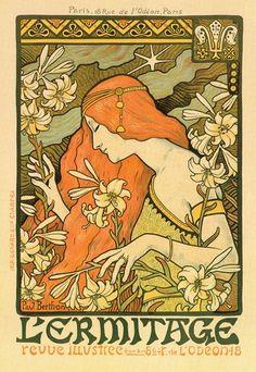 Risultati immagini per Alphonse Mucha Art Nouveau by Roy Guadalupe Illustration Photo, Illustration Art Nouveau, Art Nouveau Poster, Motifs Art Nouveau, Art Nouveau Design, Art Nouveau Flowers, Art Vintage, Vintage Posters, Vintage Bohemian