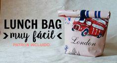 Lunch bag o bolsa de almuerzo muy fácil ( patrón incluido )