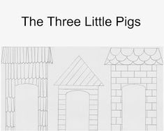 East Coast Mommy: Number Crafts {Number THREE}... The Three Little Pigs Pig Crafts, Crafts For Kids, Three Little Pigs Story, Number Crafts, Third Grade Science, Physics Classroom, Craft Free, Farm Theme, Craft Tutorials