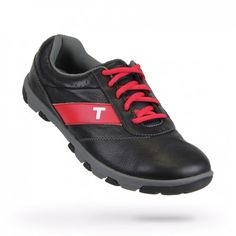 Mens Proto Black/Charcoal/Red Golf Shoes by True Linkwear.  Buy it @ ReadyGolf.com