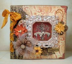 ELITE4U Vintage Thanksgiving Themed Premade Paper Bag Album by Papercupcake | eBay