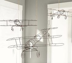 $39-$69, So cool!  Especially for H.R.H.'s bedroom, huh Mandy? :)  Wire Hanging Airplanes