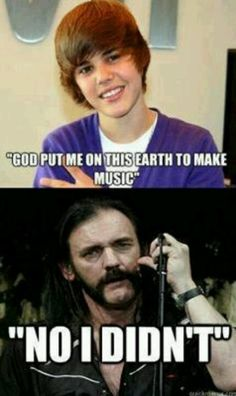 For those unfamiliar with the gent representing god it's Lemmy Killmister of the seminal Rock, Metal, Punk band MOTÖRHEAD defiantly check Them out! Glad that your feeling better Lemmy! We love ya no matter what. Funny Friday Memes, Friday Humor, Monday Memes, Music Memes, Music Humor, Hard Rock, Beatles, Metal Meme, Rock Y Metal