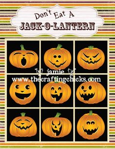 'Don't Eat a Jack-O-Lantern'!!!! (Same game as 'Don't Eat Peet!', and we use marshmallows.) FREE Download!