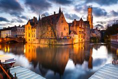 Brugge at dusk by Loïc Lagarde on 500px