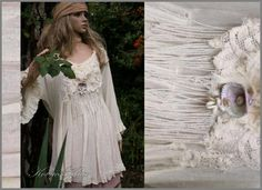 Bohemian Romantic Linen Gauze Tunic with Long Sleeves and Frills Lagenlook Plus Size Shirt OOAK