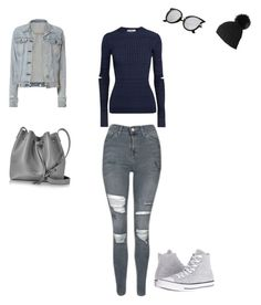 """""""Untitled #59"""" by selise-miles on Polyvore featuring Topshop, Jil Sander, rag & bone, Converse, Black and Lancaster"""