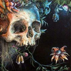 Juxtapoz Magazine - The Work of Kraser Diy Poster, Arte Punk, The Lovely Bones, Skeleton Art, Skeleton Bones, Skull Artwork, Sugar Skull Art, Sugar Skulls, Skulls And Roses