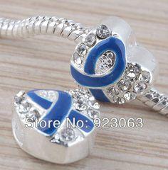 Fibromyalgie Coeur Ruban Bleu :  Livraison gratuite 20 pcs/lot bleu ;maille ruban de cristal clair argent coeur  Perles de qualité directement des fournisseurs de Chine:   Taille de perle:     Environ 12x12x8mm     Trou diam: Environ 4.5mm     Poids:Environ 3.5 gr (1 pc) (pin by @ChansLau )
