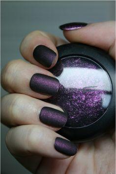 Mix eyeshadow with clear nailpolish and Walah...Magic!