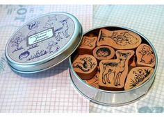 Japanese Favorite FOREST ANIMALS Craft Rubber Stamps - Set - Rubber Stamps