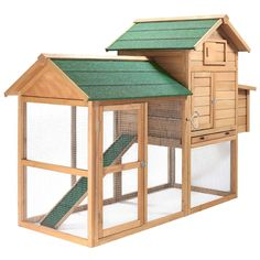Amazon.com : SmithBuilt 7 ft. Wooden Two Story Chicken Coop : Patio, Lawn & Garden
