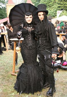 goth gothic fashion parasol top hat tophat dress fashion skull clothing clothes