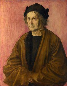 Dürer: The Painter's Father 1497. Oil on panel. 51 x 40,3 cm. National Gallery, London.