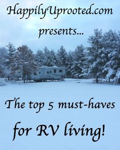 RV must haves: Our top five must have items for RV living and travel to make life on the road easier! We have been living in an RV for over 5 years now and there are a few things that we use the mo...