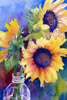 Sunflowers. You cheer me up like these do; they reminded me of you because of this. Love you. V~