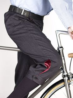 I like the little splash of color at the cuff.  Nice for commuting to work.