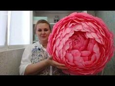 Бесплатный мастер-класс «Большие бумажные цветы. Пион». Аксессуары для фотосессий. - YouTube