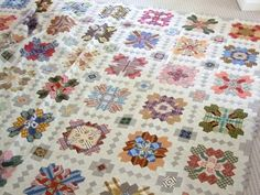 I have three quilts I'm working on at the moment ( taking up way too much room around the house ) and lots more I'd like to start of course....