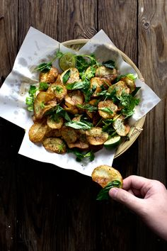 Potato Chips Herb Salad