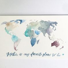 Design inspiration design bmd map illustrations office design we apologize for being mia and our lack of instagram posts promise well be back soon heres a hand sketched and watercolored world map gumiabroncs Choice Image