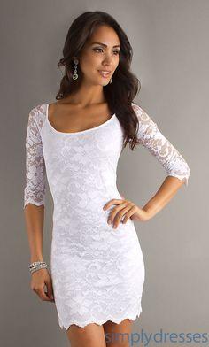 Short White Lace Dress BD-X1682018