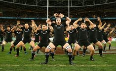Footy Players: The All Blacks perform the Haka