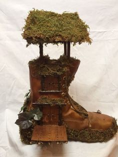 Fairy house made of a boot