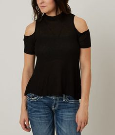 Polly & Esther Cold Shoulder Top - Women's Shirts | Buckle