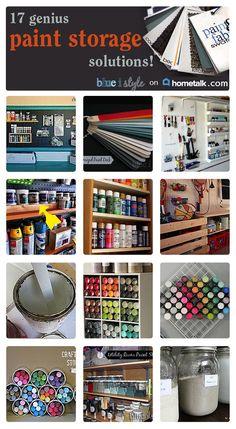 If you're looking for a solution to organize the paint in your craft room or garage, you need to see these 17 genius paint storage solutions!