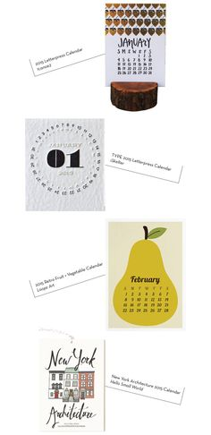 2015 Calendars: Part 4 - Design Crush