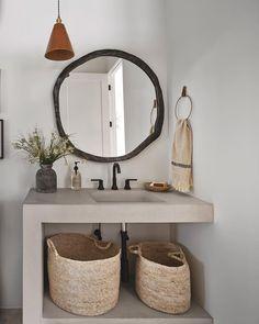 Minimalist Living, House Goals, White Walls, Home Decor Inspiration, Modern Rustic, Master Bathroom, Sweet Home, Mirror, Nest