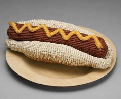 Artist Ed Bing Lee has created food sculptures essentially from waxed linen, linen, cotton and raffia. Photos © Ed Bing Lee