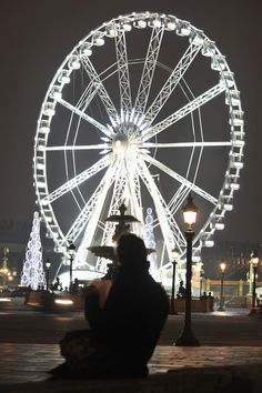 Christmas Illuminations In Paris