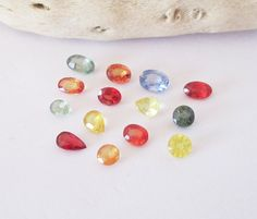 Natural Multi Color Sapphire Mixed Shape Accent Lot 5.00cttw by BellaGems61 on Etsy