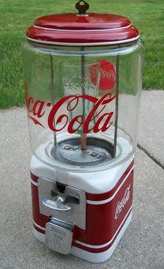 Máquina Vintage COCA-COLA para chicle.