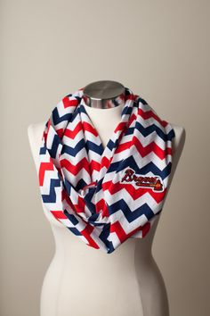 Atlanta Braves MLB Infinity Scarf on Etsy, $26.00