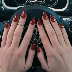 Blood red stiletto nails