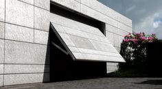 ALEXANDER BRENNER ARCHITECTS - Bredeney house - Photos by Zooey Braun, Stuttgart B-and, Stuttgart - ALUSION aluminum foam on garage walls and entranceway