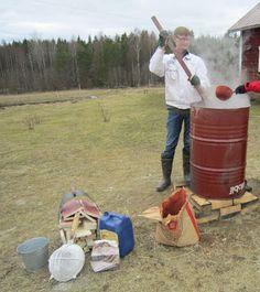 Художник школа   pkky.fi: деревянные постройки Живопись и красная охра краска решений