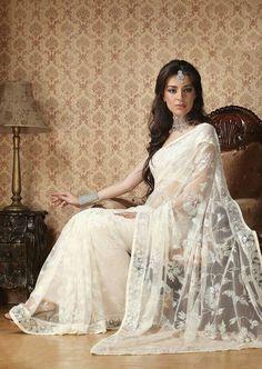 White saree bridal
