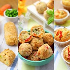 3 IDEE CON LE VERDURE: BASTONCINI, POLPETTE E MUFFINS Ricotta, Antipasto, Vegetable Dishes, Artichoke, Baked Potato, Zucchini, Salads, Muffin, Pizza