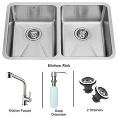 Dual kitchen sink